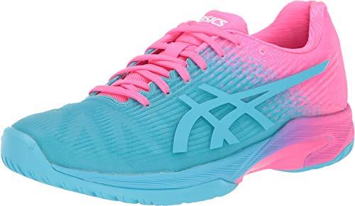 ASICS Women's Solution Speed FF L.E Tennis Shoes, 5M, Aquarium/HOT Pink