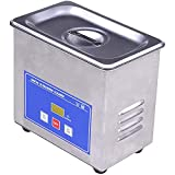 Pulitore ad ultrasuoni professionale personale, riscaldatore timer digitale da 40 KHz 600 ml con cestello per la pulizia, serbatoio in acciaio inossidabile, per dispositivo per gioielli, occhiali