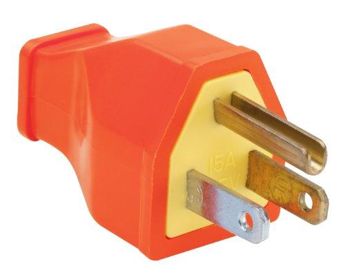 Legrand-Pass & Seymour SA399OCC10 Residential Straight Blade Plug 15-Amp 125-volt Two Pole Three Wire orange