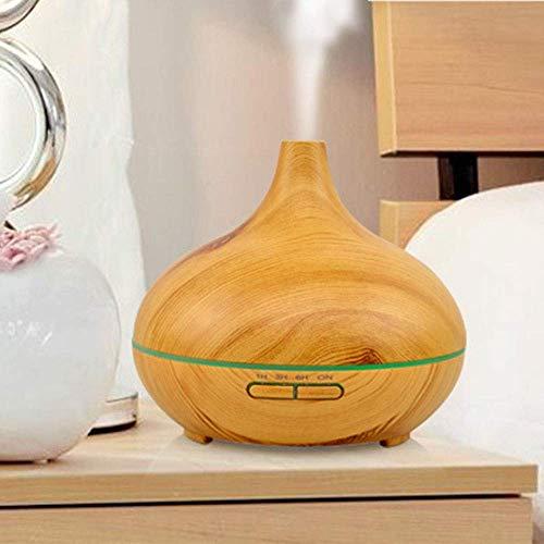 MQJ Humidificador de Madera de Aceite de Aceite Lámpara de Incienso Lengxiang Instrumento Colorido Colorido Ultrasonico Nebuline Humidionio Aromaterapy