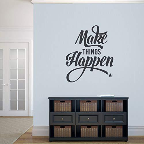 Calcomanía para pared con citas motivacionales inspiradoras, aulas de oficina, arte de pared extraíble, vinilo adhesivo de pared de 76,2 cm