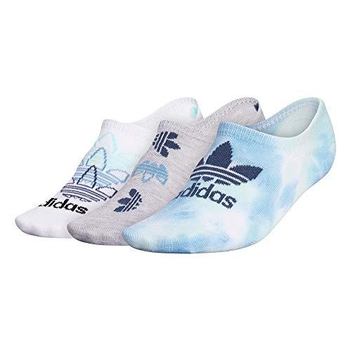adidas Originals - Calcetines para mujer Trefoil Super No Show (3 pares), Mujer, Calcetines, EW2645, Verde/Claro Menta/Color Wash, Medium (Womens Shoe Sizes 5-10)