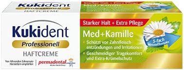 Kukident Adhesive Cream Soldering Med+Camomile 40 g Toothwash Fixed price for sale
