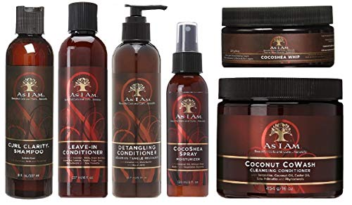 As I Am Naturally'Shampoo&Conditioner&Detangler&Leave-In&Spray&Cream'