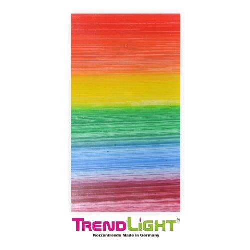 TrendLight Verzierwachsplatten - Wachsplatten Regenbogen 2 Stück 20x10 cm