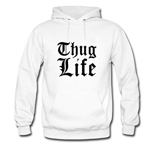 HKdiy Thug Life Custom Men's Pullover Hoodie