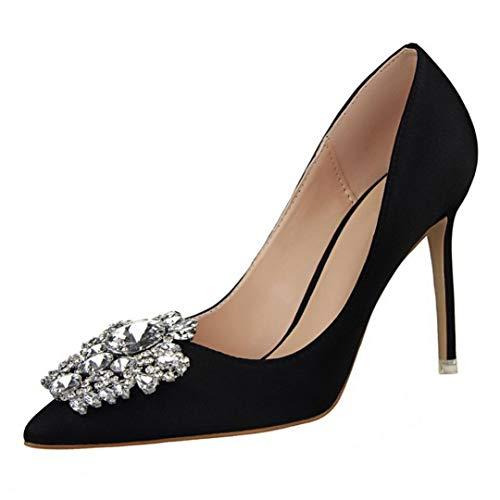 Tacón alto mujer verano 2018, Covermason Las mujeres bombean los zapatos con fino estilo Rhinestone fino