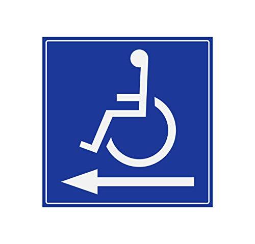 Supstick Handicapé Stickers - Mobility Aid - Pijl Links 5 x 5 cm