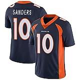Sanders Broncos 10# Rugby Jersey, T-Shirt Adulte pour Homme Football Américain Sweat Match Uniforme Cadeau S-3XL-Navyblue-XXL