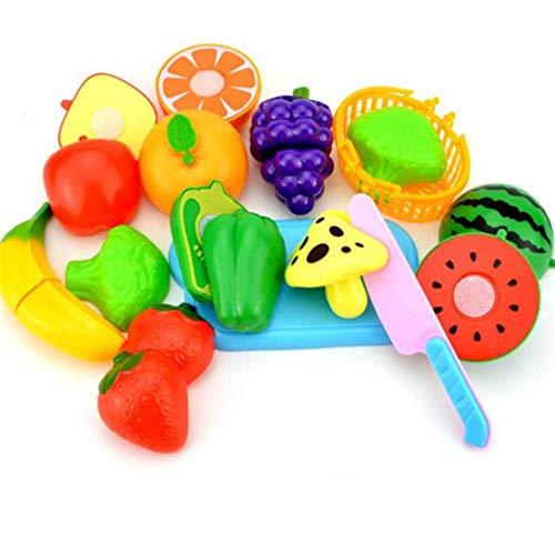 XWEM Simulación De Juguetes De Cocina, 23 Unids Corte De Corte De Frutas De Fruta De Verduras Pretend Play Educational Toy Regalo para Niños Niños Niños