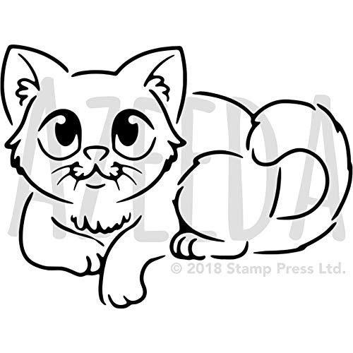A4 'Sitzende Katze' Wandschablone / Vorlage (WS00026015)