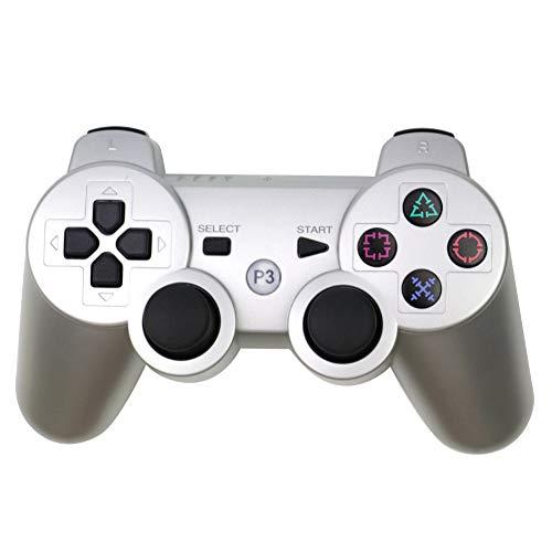 JIN PS3 - Controlador de juego inalámbrico Bluetooth 2.4 GHz P3 de vibración dual para PS3 host