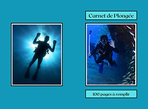 Carnet de Plongée: en mer,sous marine,eaux douces, journal de plongée, pour débutants, intermédiaires , expérimentés 100 fiches à remplir, carnet à offrir pour les fêtes et anniversaires.