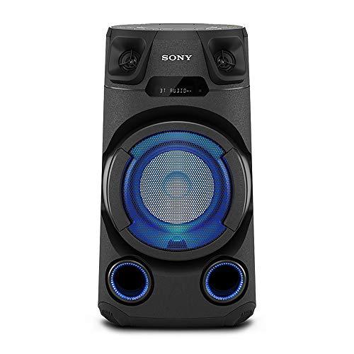 Sony MHC-V13 High Power Portable Party Speaker with Bluetooth Connectivity (Karaoke & Guitar Input, Speaker Light, Bluetooth & NFC, CD Playback, Jet Bass Booster,Mega Bass) - Black
