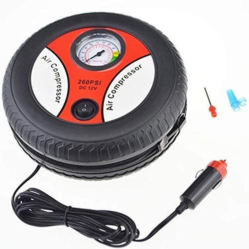 QiKun-Home Bomba de inflado de neumáticos de Coche Compresor de Aire Mini diseño de neumáticos 12V Voltaje de Entrada Máquina de inflado eléctrica Adecuado para la mayoría de los Coches Negro