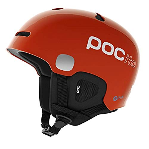 POCito Auric Cut SPIN Helmet Fluorescent Orange XSS & Knit Cap Bundle