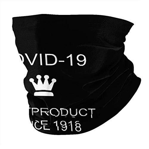 Covid 19 Best Product Since 1918 Face Mask Neck Gaiter Multi-Functional Balaclava Bandana for Dust Outdoor Black One Size-With 2pcs Filters Made In USA