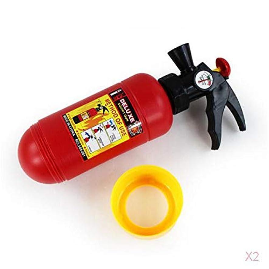セクタ従順リボン子供の赤いプラスチック製の消火器形ホヤ水鉄砲のおもちゃ