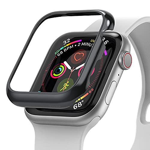 Ringke Bezel Styling Compatible with Apple Watch Series 6/SE/5/4 [40mm, Stainless Steel] Bezel Ring Adhesive Cover Scratch Protection for iWatch 6/5/4/SE - Graphite (40-111)