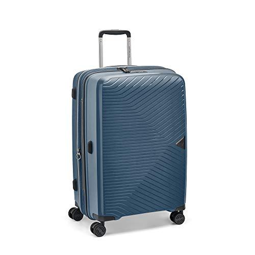 Roncato Gamma Medium Expandable Trolley Blue Night Hard TSA 67 x 46 x 25-30 cm