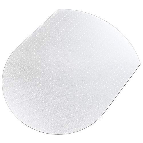 Polycarbonat Bodenschutzmatte | transparent, oval | für Teppichböden (120x138 cm)