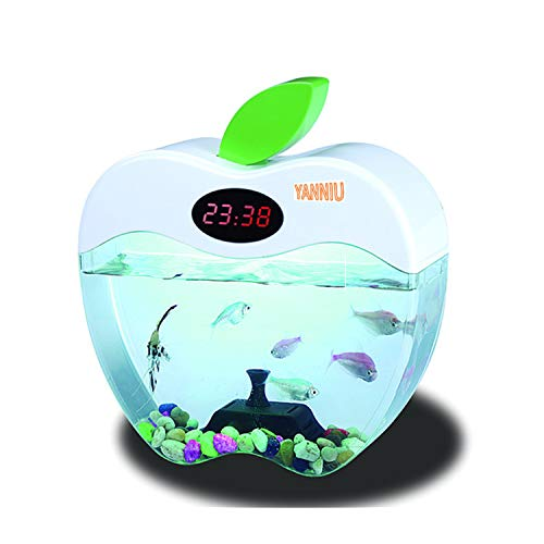 YABIN kantoor mini complete tank, LED Nano Aquarium complete set kinder-appelvorm, desktop mini aquarium,