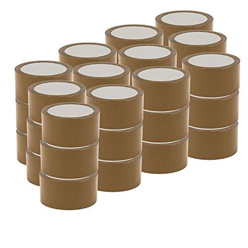 DynaSun Kit 36x Nastro Adesivo Imballaggio 48x66 Avana Svolgimento Silenzioso da Imballo Alta qualità Basso Rumore 66m-48mm