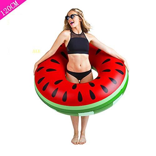Sxfcool Zwemring voor volwassenen verdikking om opblaasbaar waterspeelgoed onder de ring te vergroten schattig drijvende ring volwassen watermeloen zwemring