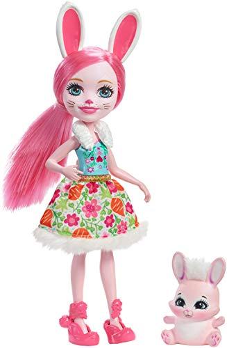 Enchantimals Muñeca con mascota Brie Bunny (Mattel DVH88)