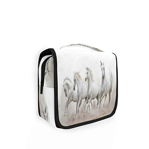 RXYY - Bolsa de aseo plegable para colgar para el baño, organizador portátil de cosméticos, para mujeres y niñas