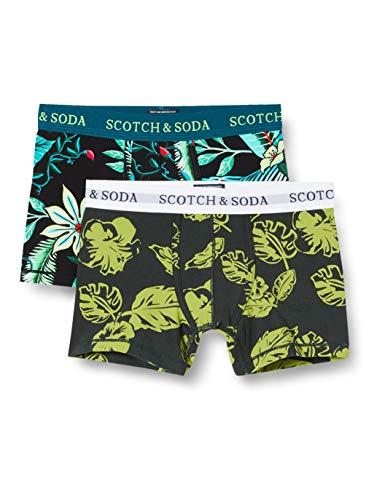 Scotch & Soda Shrunk Jungen Print im 2er-Pack Boxershorts, Mehrfarbig (Combo G 0461), 104 (Herstellergröße: 4)