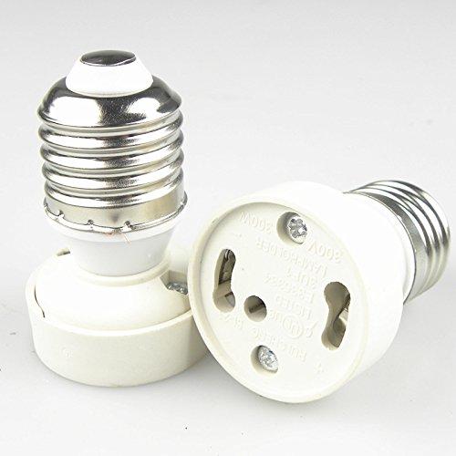 FUNAN @ 3Pcs Capuchón de la lámpara Convertidor de los portalámparas, para E27 / E26 a GU24, white