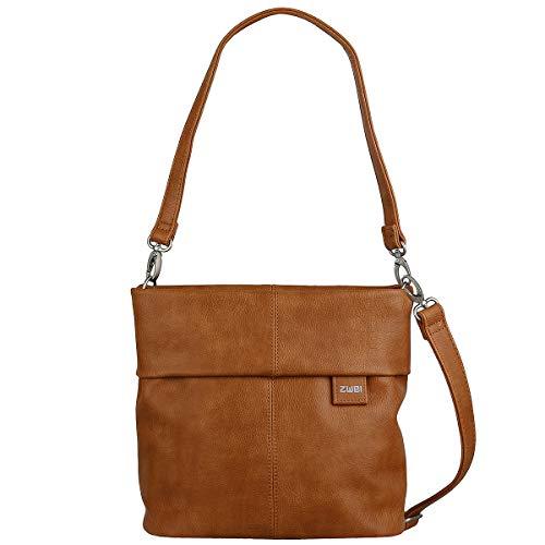 Zwei Tasche Handtasche Damen MADEMOISELLE M8 Kunstleder, Farbe:Zimt