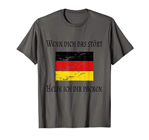 Patriotismus ist kein Verbrechen Starkes Deutschland Flagge T-Shirt