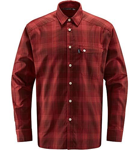 Haglöfs Tarn Flannell Camiseta, Hombre, Maroon Red/Brick Red, XXL