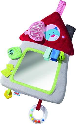 HABA 305128 - Spielkissen Haus, weiches Spielzeug für Babyschale, Kinderwagen und Kinderbett mit Spielelementen für alle Sinne, Babyspielzeug ab 6 Monaten