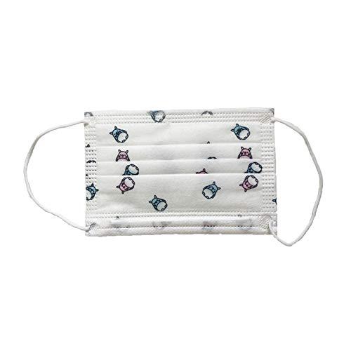 Mundschutz für Kinder 3-Lagig mit Nasenbügel (20, Weiß)