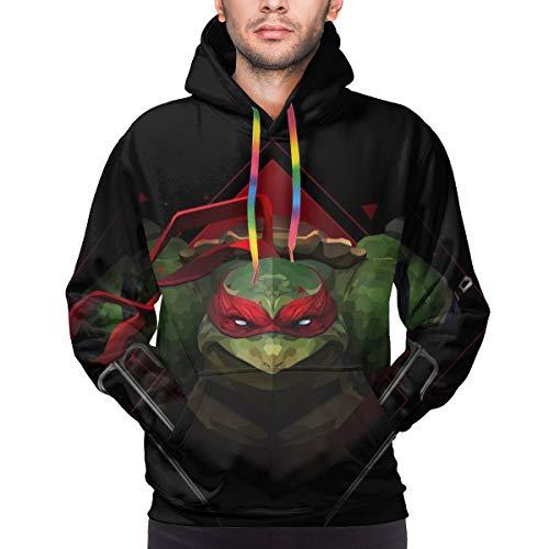 Teenage Mutant Ninja Turtles Hoodie Unisex 3D All-Over Printed Lightweight Pullover Mens Womens Hooded Sweatshirt. 3XL Black