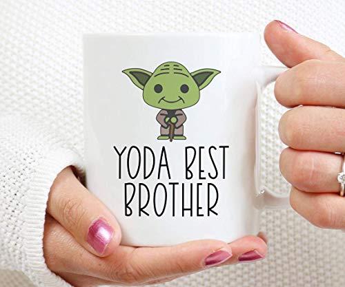 Yoda Best Brother Mug,Funny, Baby,Love Brother,Family Mug,Xmas,Christmas Love,Remember,Coffee Mug 11oz