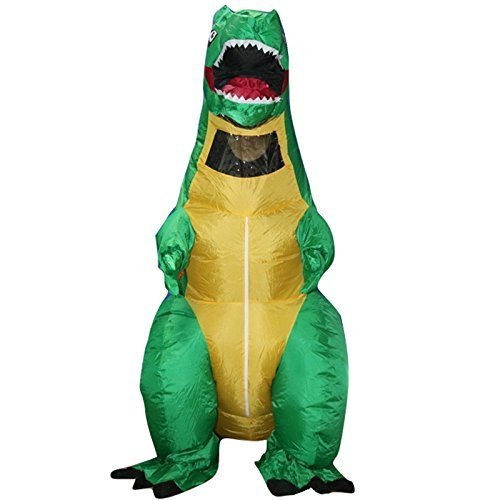 Rexco Inflatable Blow Up Adult Dinosaur T-Rex Halloween Horror Party Fancy Dress Costume Party Outfit Suit