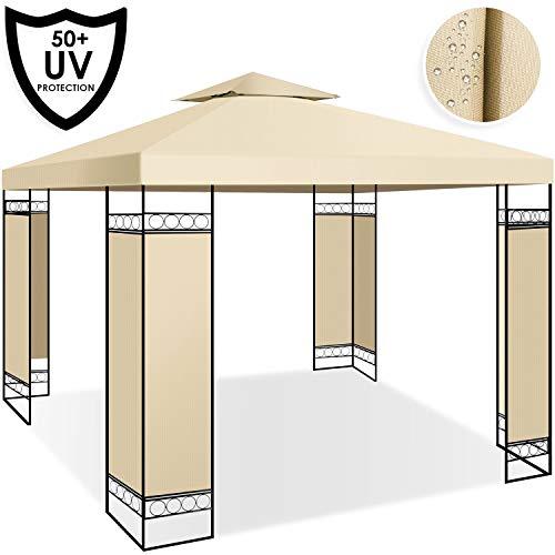 Kesser® - Pavillon 3x3m wasserabweisend UV-Schutz 50+ Metall Gestell Partyzelt Gartenzelt Gartenpavillon 9m² Festzelt, Beige