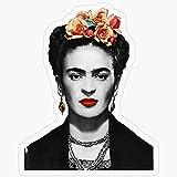Lplpol Vinilo adhesivo – Frida Kahlo retrato en blanco y negro – divertido adhesivo o portátil, teléfono, coches, botellas de agua 5.5 pulgadas
