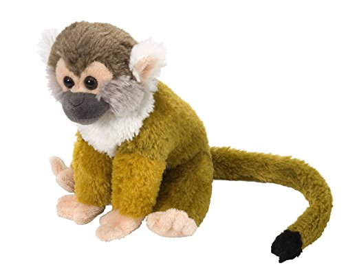 Wild Republic Squirrel Monkey Plush, Stuffed Animal, Plush Toy, Gifts for Kids, Cuddlekins 8 Inches