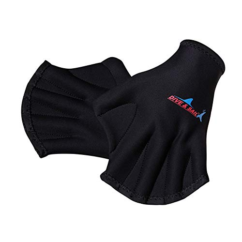 BYFRI 1 Paar Handschuhe Für Aquatic Helping Oberkörper Widerstand, Schwimmfuß Schwimmhandschuhe Handschlaufe, Well Stitching, Verblassen, Größen Für Männer Frauen Erwachsene Kinder