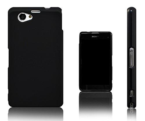 Xcessor Vapour Custodia di TPU Gel Flessibile per Sony Xperia Z1 Compact. Nero
