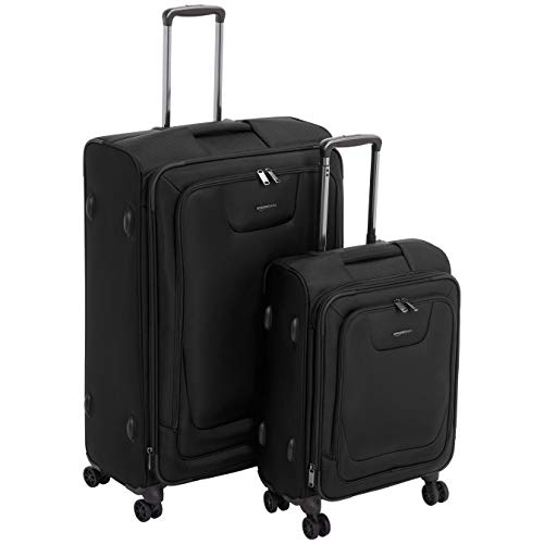 Amazon Basics - Set de dos maletas con ruedas, de calidad superior,...