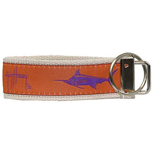 Guy Harvey Canvas Ribbon Nautical Key Rings (Orange)