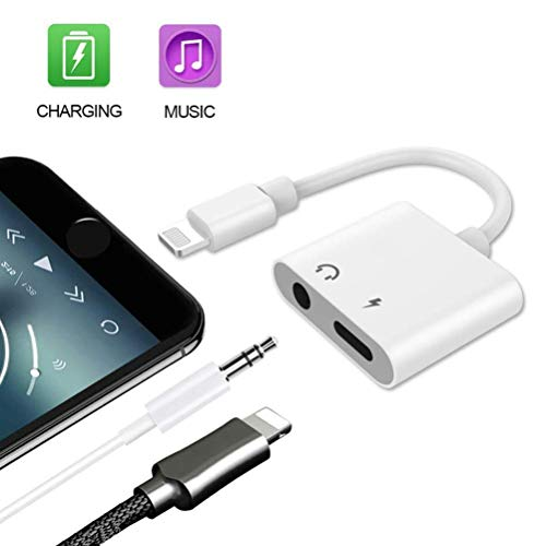 Adapter 3.5mm Aux Jack Earphone Splitter Adapter Charger Cable