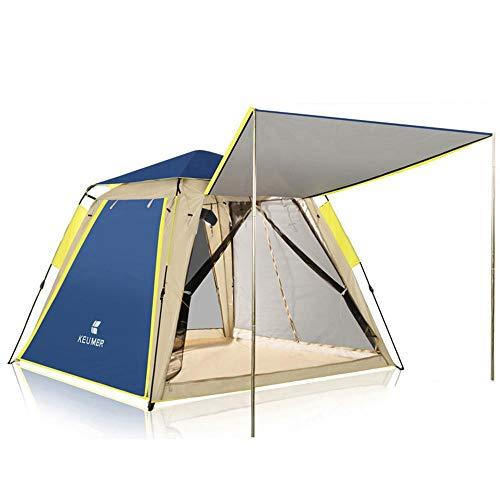 Automatisch opzetten camping tent 3-4 personen grote ruimte verdikt vierzijdig ademend waterdicht UV thuis strand vissen 210x210x168cm