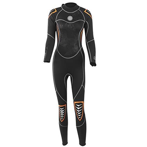 Alomejor Muta da Sub in Neoprene da 3 mm con Zip per Tutto Il Corpo Muta da Sub Modello Phoenix L per Donna Snorkeling per Adulti